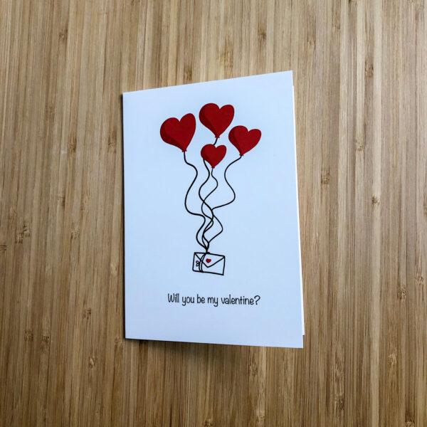 Wenskaart valentijns post
